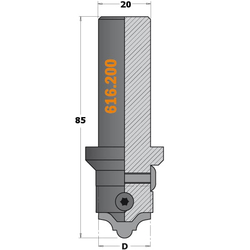 Ножи твердосплавные сменные для набора 616.000.01 и корпус фрезы 616.200 CMT Концевые со сменными ножами Фрезы по дереву