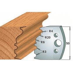Комплекты ножей и ограничителей серии 690/691 #513 CMT Ножи и ограничители для фрез 50 мм Ножи